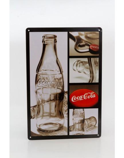 Placa Metálica Garrafa Coca-cola