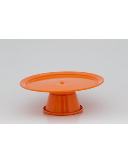 Prato com pé alumínio laranja Tam P