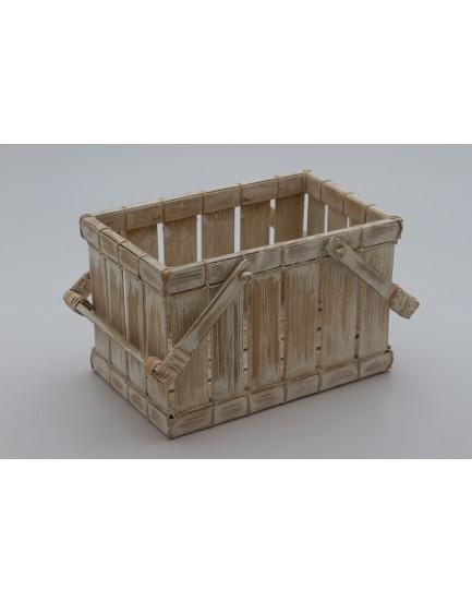 Cesto Bambu Branco P