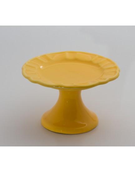 Prato com borda em gomos Amarelo Tam P