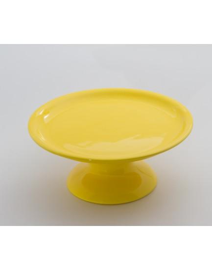 Prato cerâmica Liso redondo Amarelo Tam M
