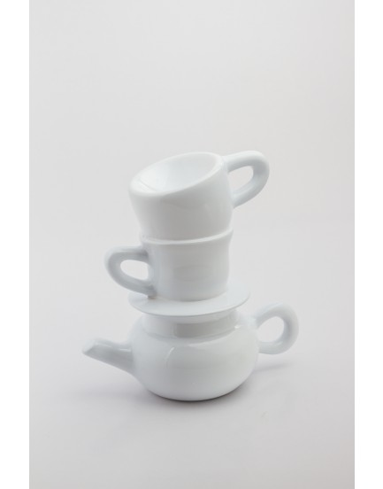 Torre xícaras  Cerâmica Branca