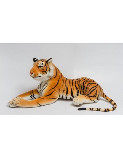 Tigre Deitado pelúcia Tam G