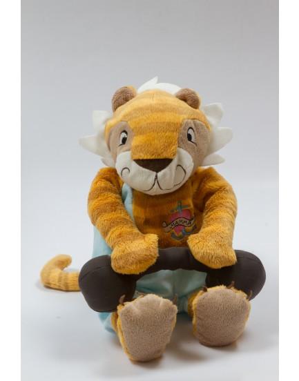 Tigre de pelúcia com alteres pelúcia