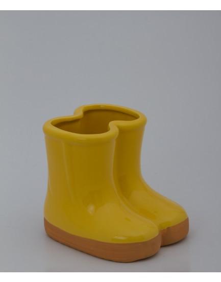 Botinha Cerâmica amarela