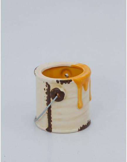 Mini Galão de tinta cerâmica laranja