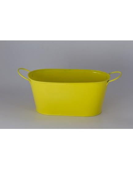Cachepot de alumínio Amarelo