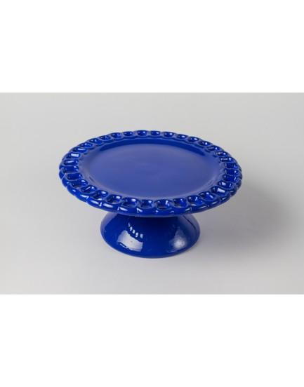 Prato Azul royal elo cerâmica Tam P