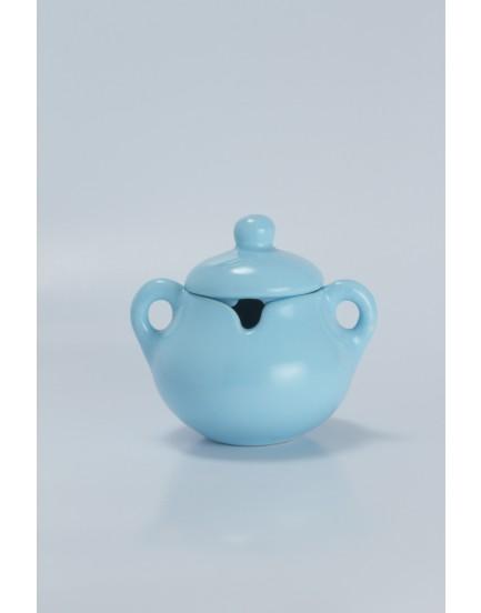 Açucareiro cerâmica azul