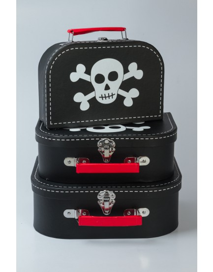Trio de maletas Piratas