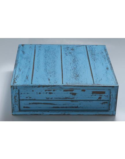 Caixa Patinada azul tam 32 x 32
