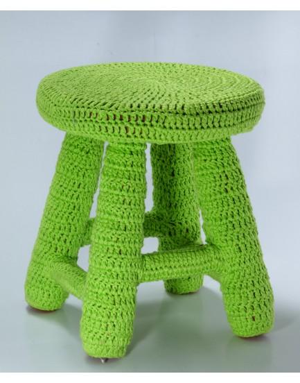 Banquinho Crochê Verde claro tam G