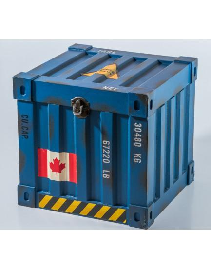 Caixa Contêiner quadrada azul