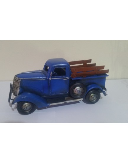 Caminhote de metal azul vintage