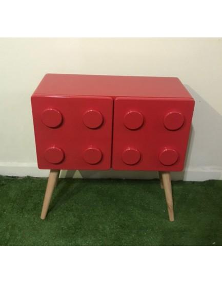 Criado Mudo vermelho  Retro Lego