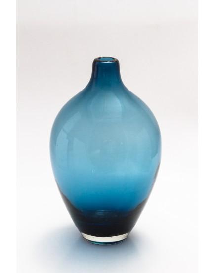 Vaso de vidro azul Pontudo