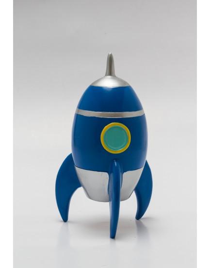 Foguete cerâmica Azul