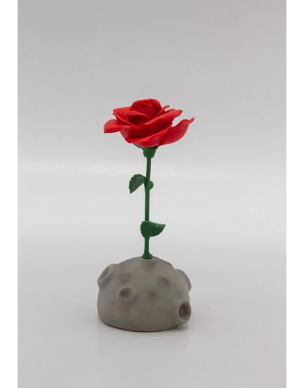 Flor em Biscuit no globo