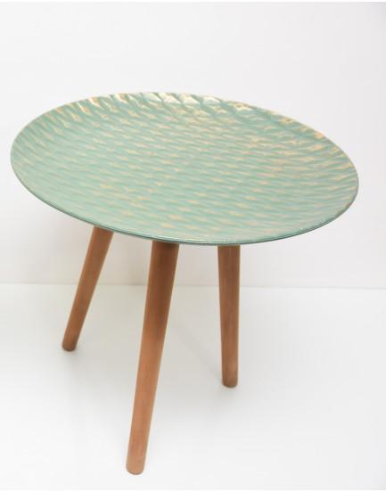 Mesa de Canto Verde com nuances dourados