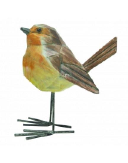 Pássaro Decorativo de metal e Resina