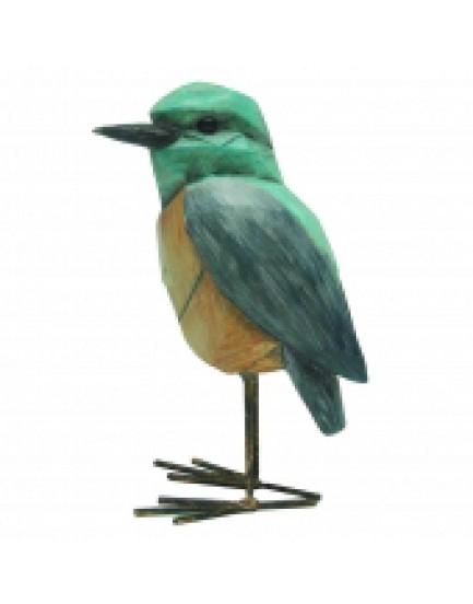 Pássaro Decorativo de metal e Resina Mod II