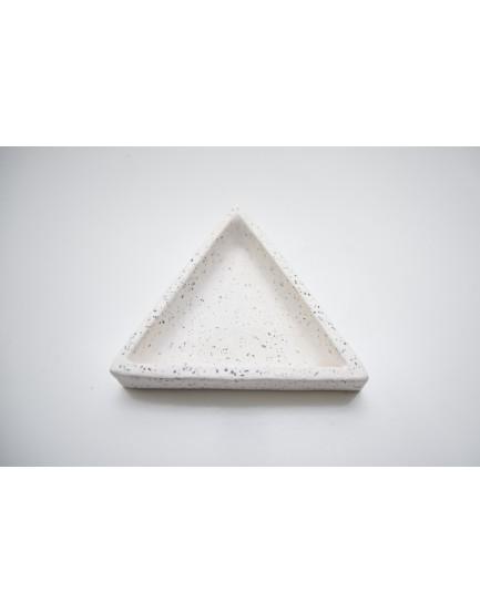 Mini Prato decorativo Triângulo Granilite Branco