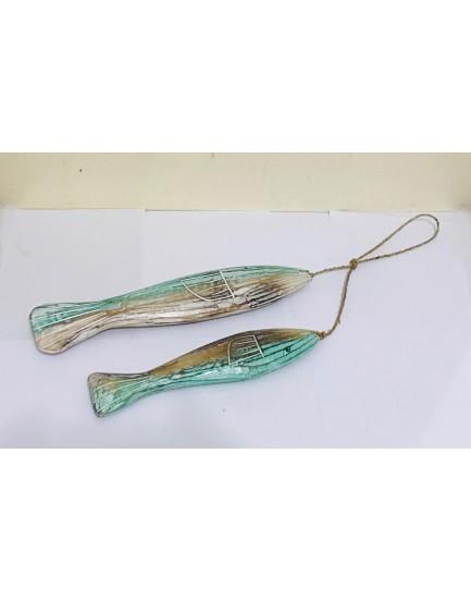 Corrente Decorativa de 2 peixes Tam G