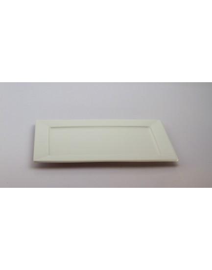 Prato retangular branco ceramica tam G