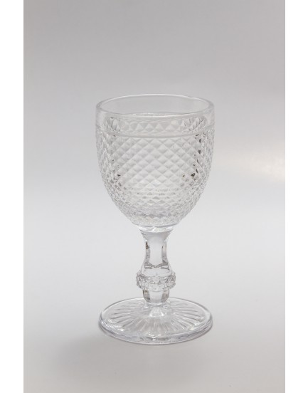 Taça de vidro transparente