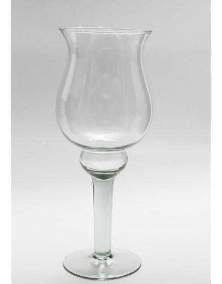 Vaso de vidro arredondado tam M