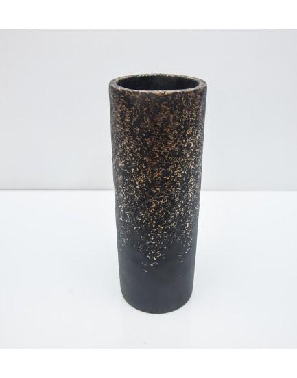Vaso Cimento Preto com dourado