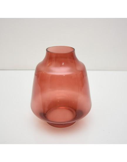 Vaso de vidro Terracota