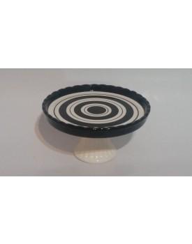Prato espiral com borda preta P