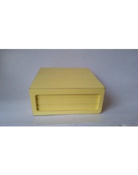 Mini Caixa rústica amarelo claro