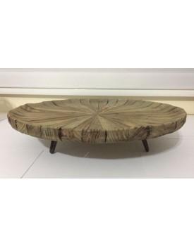 Prato de bolo Bambu com pé Ferro