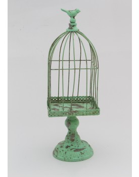 Gaiola de ferro vintage verde esmeralda