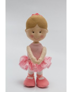 Bailarina de Feltro Rosa