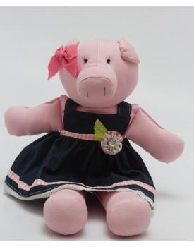 Porquinha Rosa de tecido Tam P