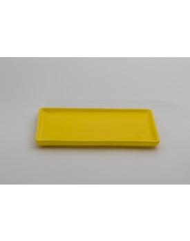 Prato retangular cerâmica Amarelo