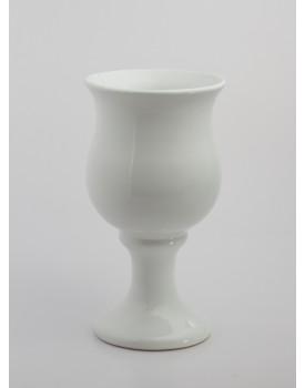 Vaso Torneado Cerâmica Branco