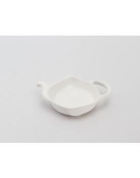 Porta Chá de cerâmica Branco