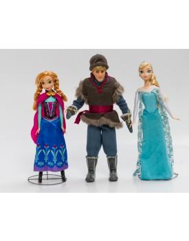 Kit com três personagens Anna,Elsa e Kristoffer