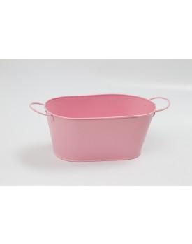 Cachepot de alumínio - rosa
