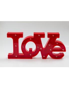 Palavra Love de Plástico Luminosa