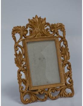 Porta Retrato Dourado Arabesco
