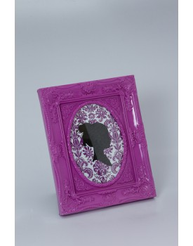 Porta Retrato roxo Com foto oval
