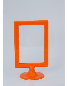 Porta Retrato Plástico com pé - Laranja
