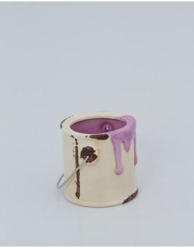 Mini Galão de tinta cerâmica lilás