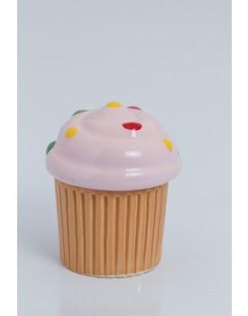 Pote formato cupcake rosa
