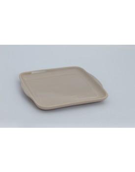 Prato de cerâmica quadrado Bege
